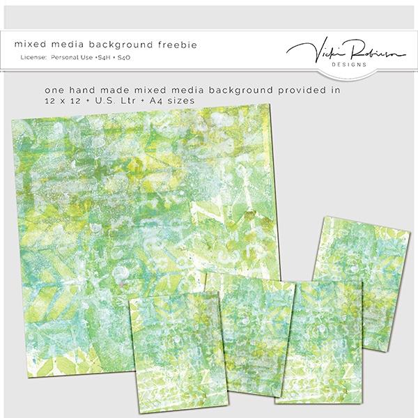 Mixed Media Background Vicki Robinson Designs @oscraps.com