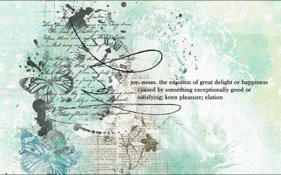 Digital Art Journal Page: Joy