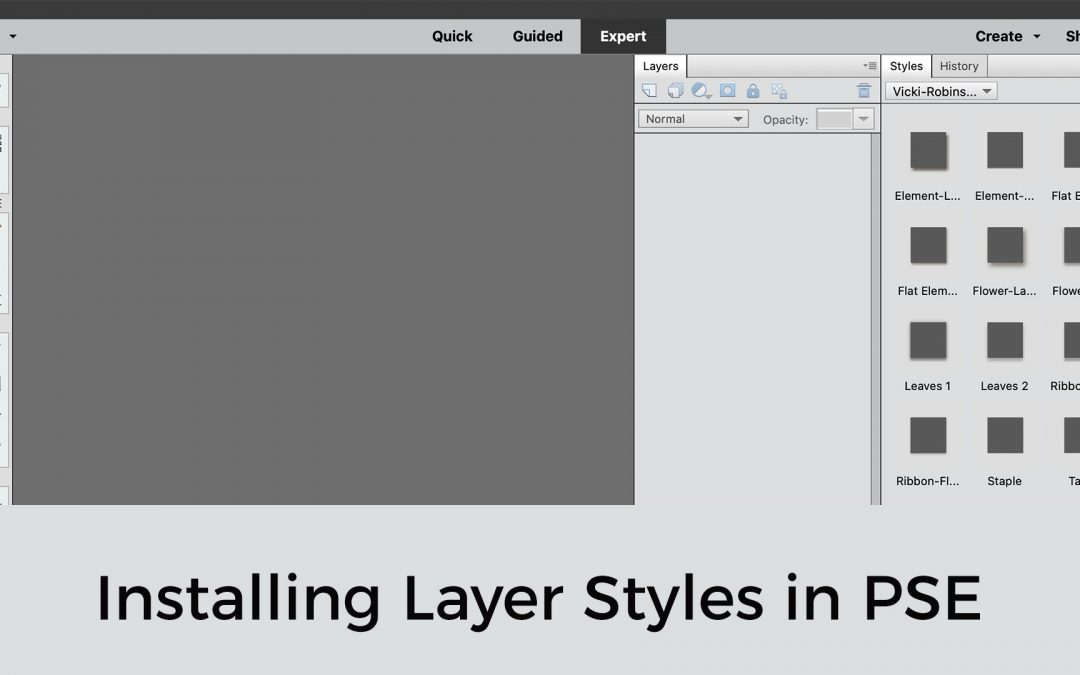 PSE Power Tip: Installing Layer Styles