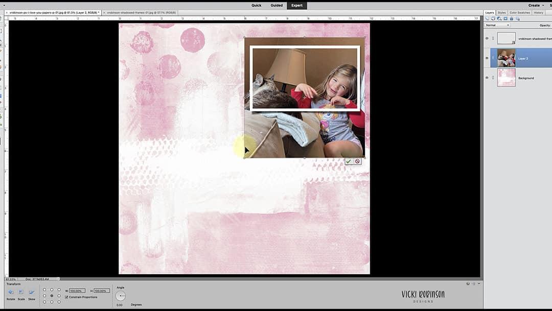 Using Layer Masks and Shadowed Frames